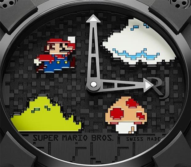 Super Maro Bros. Watch Closeup