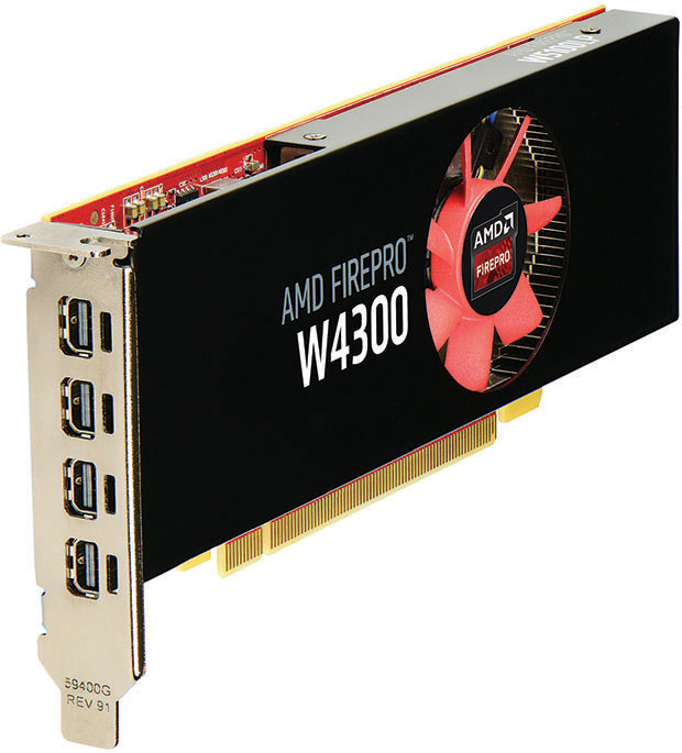 AMD FirePro W4300 Workstation Graphics Card