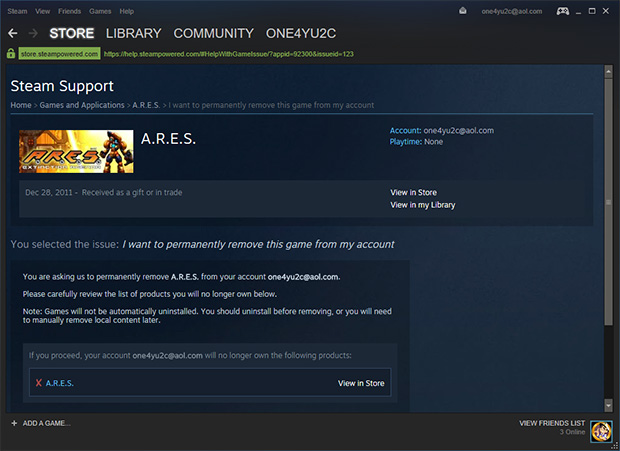 Confirm Steam Game Deletion