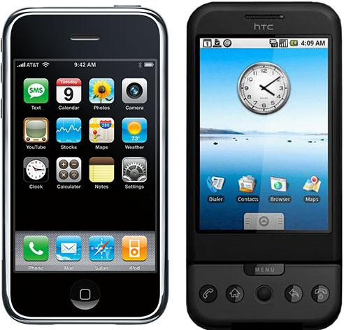 Apple iPhone HTC Dream