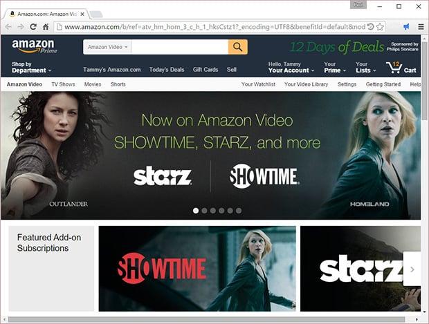 Amazon Showtime and Starz