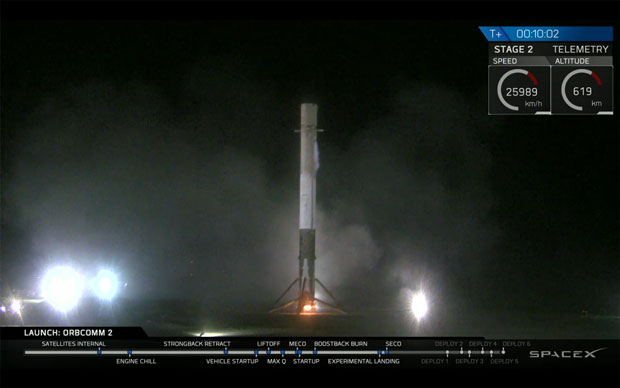 space falcon 9 landing pad