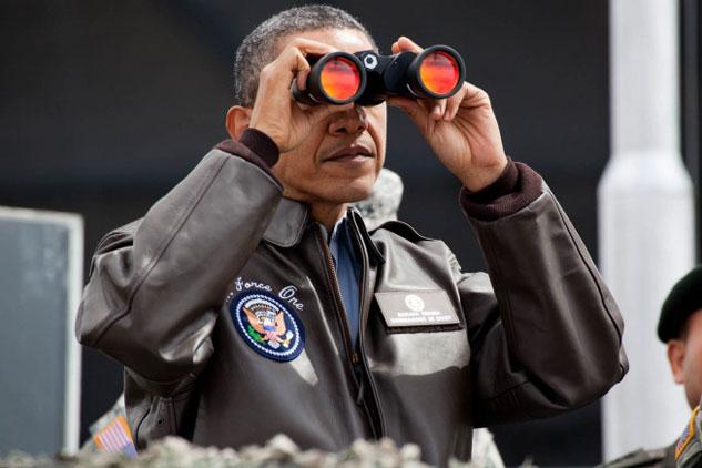 obama binoculars