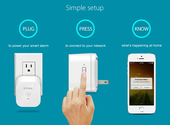 D Link Smart Alarm Detector Texts If Your House Catches On