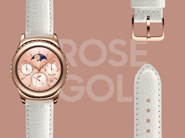 gear s2 design classic rose gold l