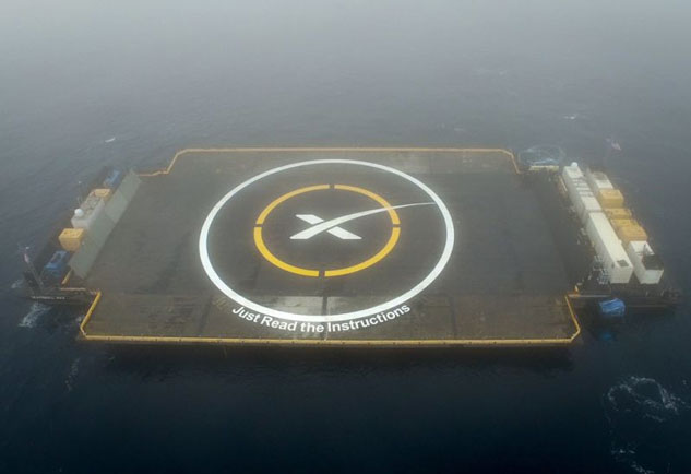 spacex barge
