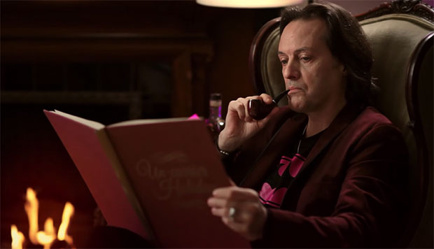 John Legere Puffing A Pipe
