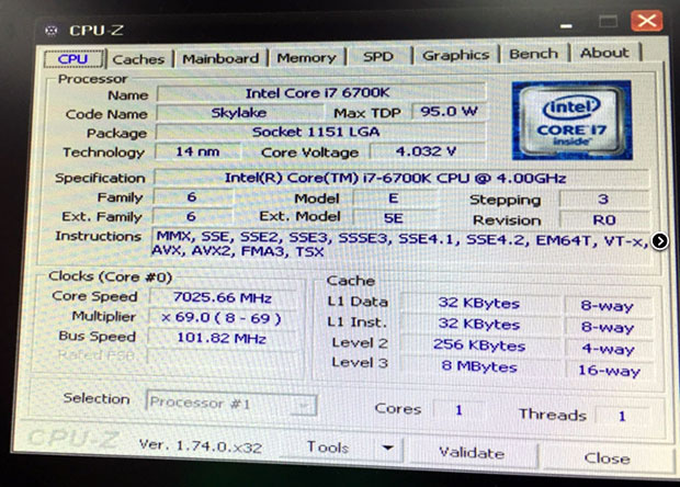 Intel Skylake At 7GHz