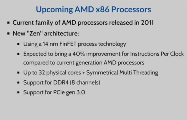 AMD Zen Slide