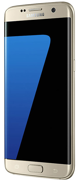 Samsung Galaxy S7 Edge Angled
