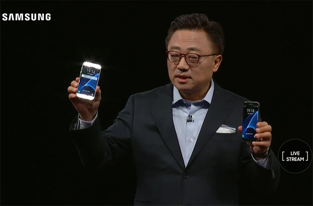 D.J. Koh with Samsung Galaxy S7