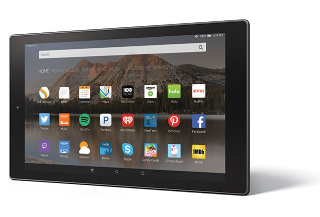Fire HD 10 Horizontal Left