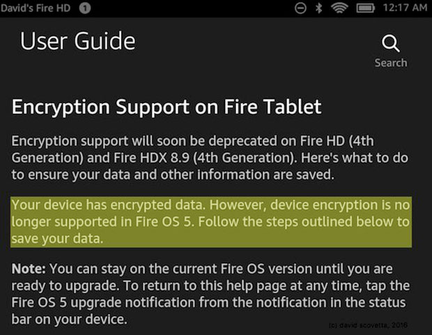 encryption fire tablet