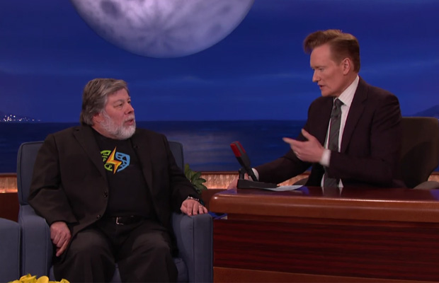 Steve Wozniak and Conan O'Brien