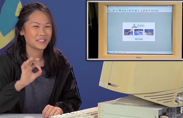 Teen on Windows 95
