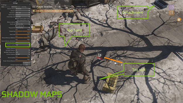 shadow maps the division