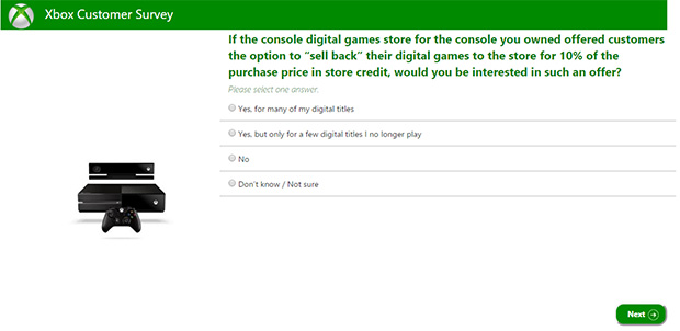 Xbox Customer Survey