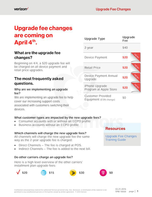 verizon upgrade