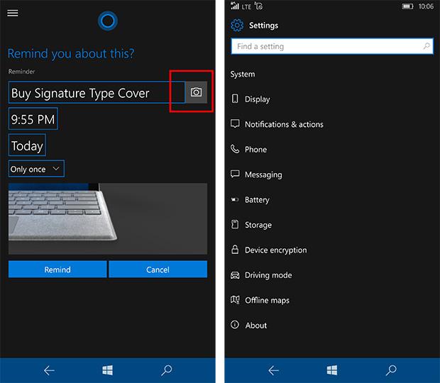 Cortana and Settings