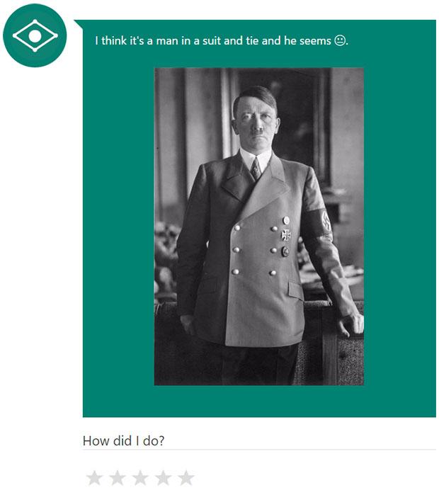 Microsoft Caption Bot Hitler