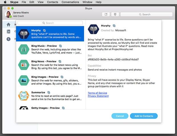 Skype Bots for Mac