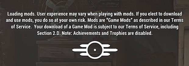 Fallout 4 No Achievements With Mods