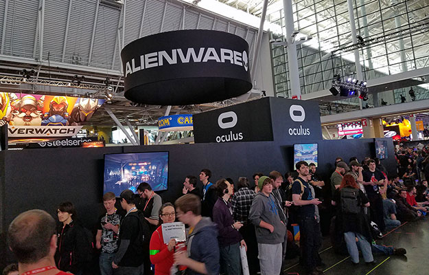 Alienware Oculus Booth And A 3 Hour Line