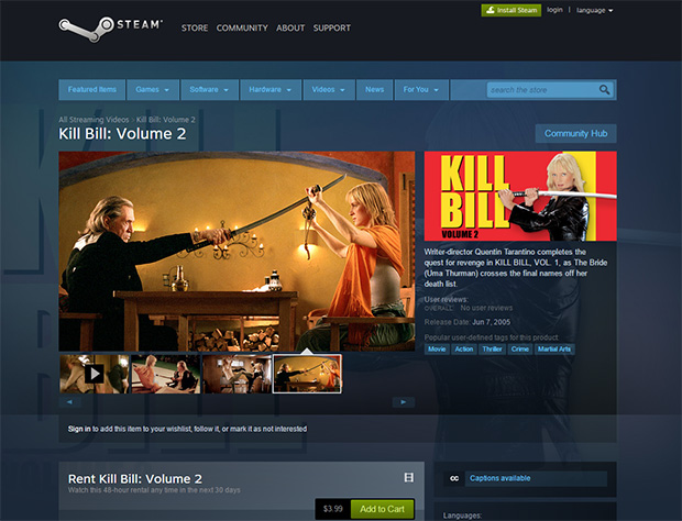 Steam Kill Bill