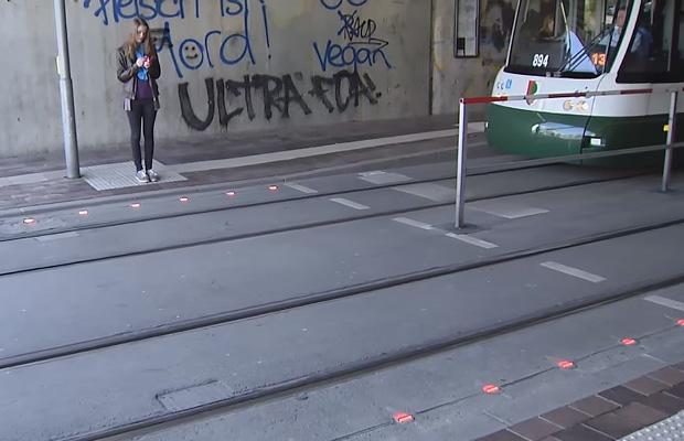 Traffic Lights in Sidewalks