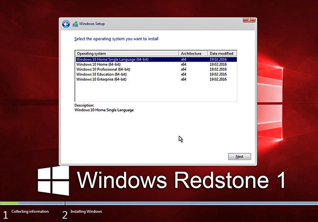 Windows10 Redstone