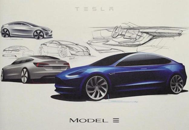 model 3 sketch