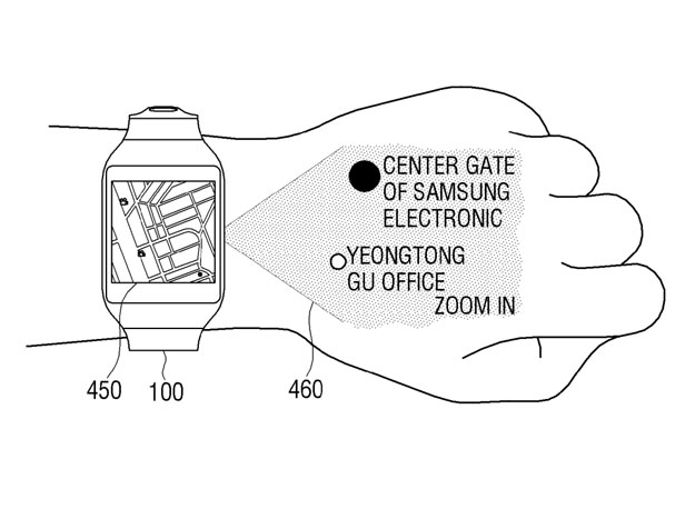 Samsung Smartwatch Patent Shows Projected Display Extending Screen