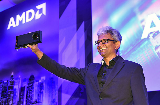 Raja Koduri, SVP of Radeon Technologies Group Shows Off World's First 14nm GPU, the Radeon RX 480