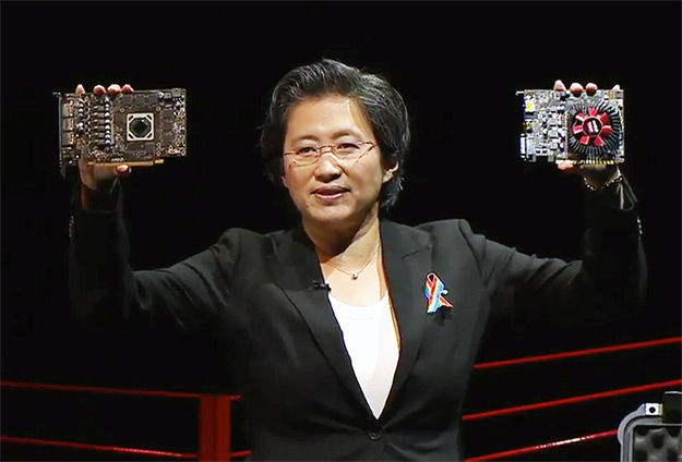 lisa su with radeon rx cards