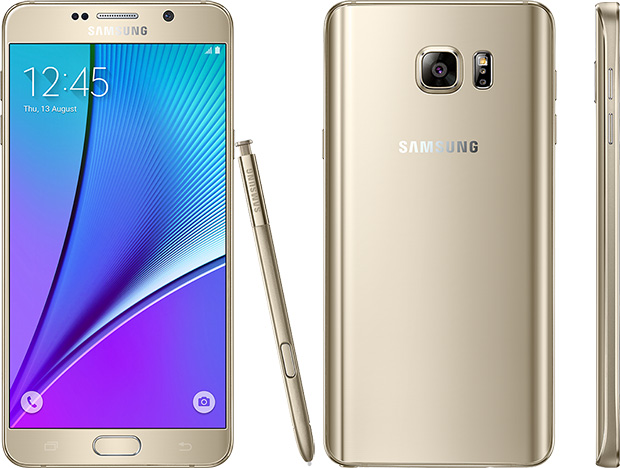 Samsung Galaxy Note 5 Gold Platinum
