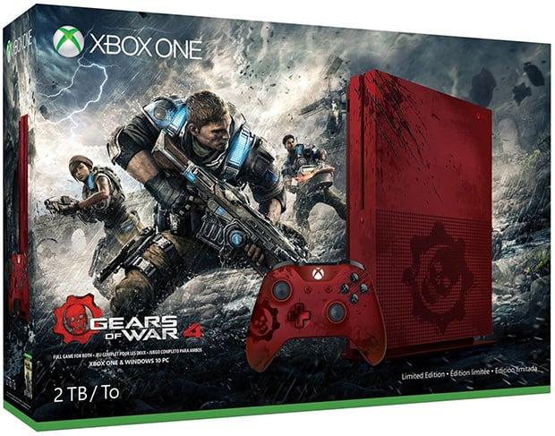 Microsoft Xbox One S Gears of War 4 Box