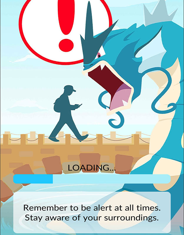 Pokemon GO loading page