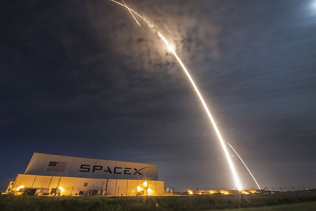 space x time lapse