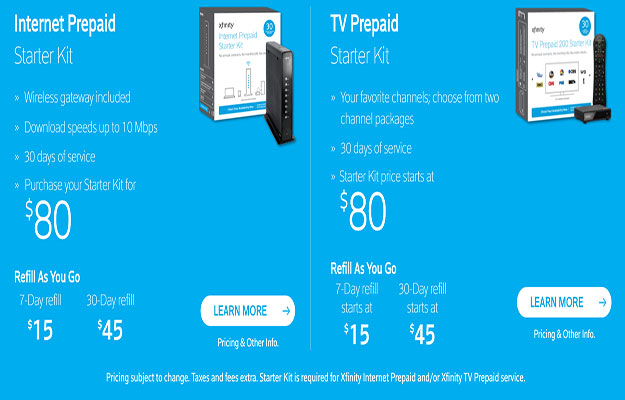 Comcast Goes Prepaid With Its Xfinity TV And Internet Service
