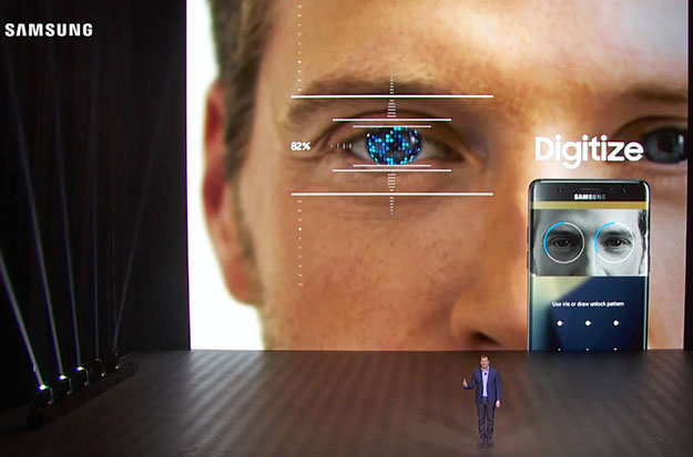 Samsung Galaxy Note7 Iris Scanner