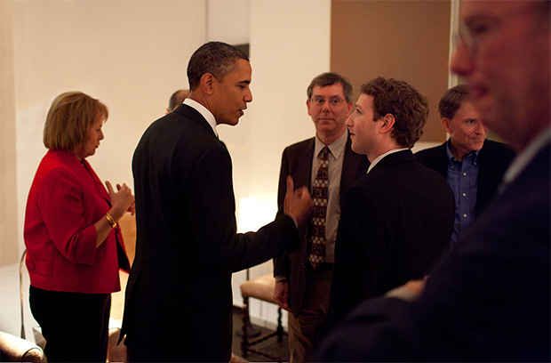 President Barack Obama and Mark Zuckerberg