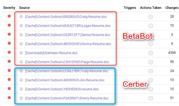 Betabot Cerber Files