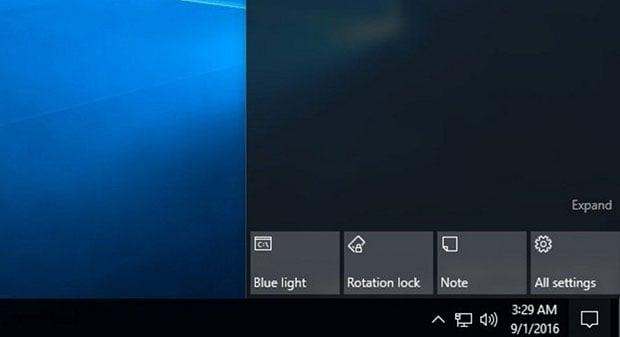 Blue Light Windows 10