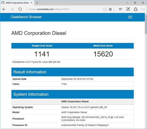 AMD Naples Geekbench