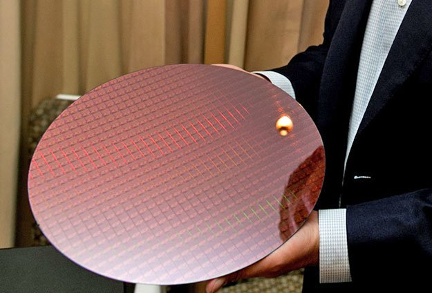 Intel Kaby Lake 7th gen wafer