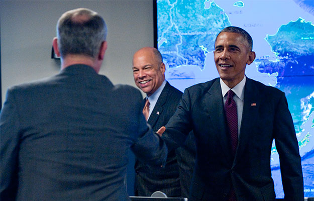 President Obama at National Cybersecurity and Communications Integration Center