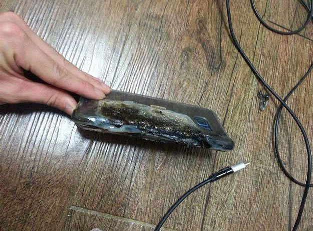 galaxy note 7 burned