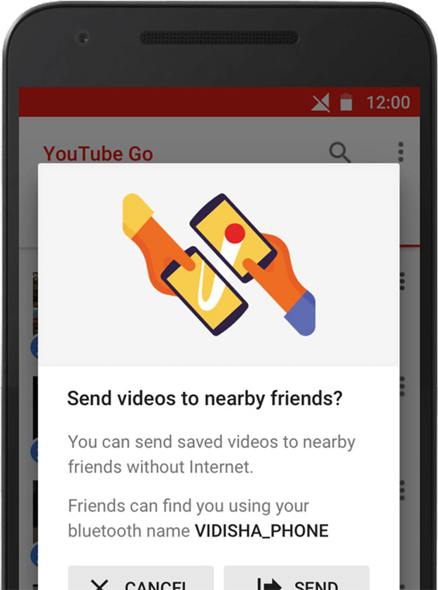 youtube share with friends