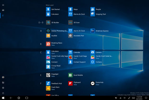 windows 10 all apps