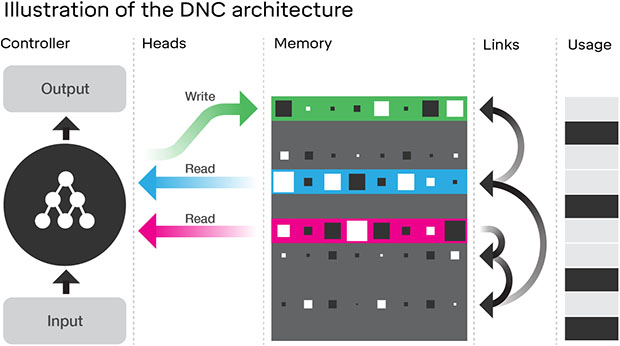 DNC architecture DeepMind
